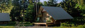 Une tente oTENTik au parc national Fundy